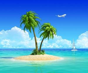 to palmer på en lille ø